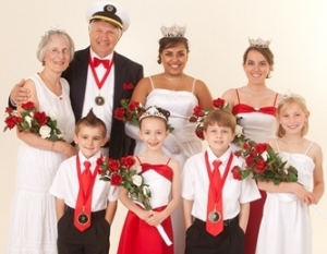 Judy Vickerman Johnson ('62) with husband, Allan; Senior Royalty, Hopkins Raspberry Festival, 2010-2011.